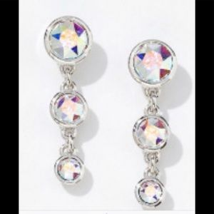 Touchstone Crystal fizzy earrings aurora boreale